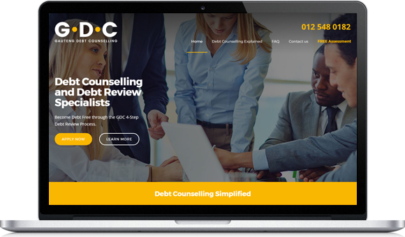 Gauteng Debt Counselling Website by Website Design Studio