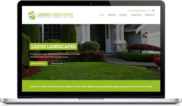 Liquid Landscapes - Website by Website Design Studio