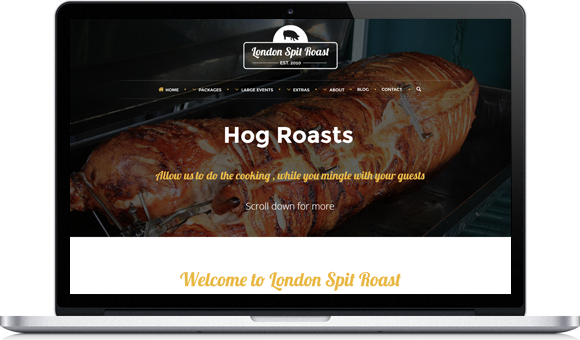 London Spit Roast - Website by Website Design Studio