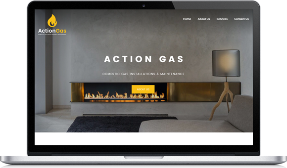 Website designed by Website Design Studio for Action Gas