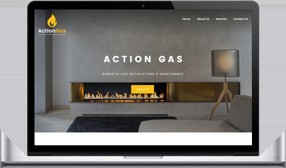 Website designed by Website Design Studio for Action Gas