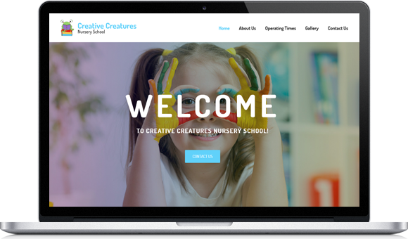 Creative Creatures Nursery School in Roodepoort - Websiste by Website Design Studio