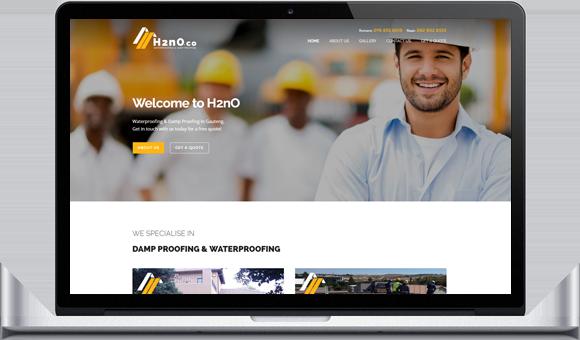H2nO Damp Proofing and Waterproofing in Gauteng - Website by Website Design Studio