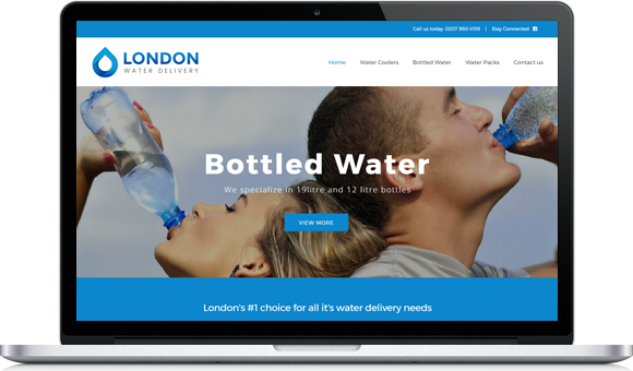 London Water Delivery Website by Website Design Studio