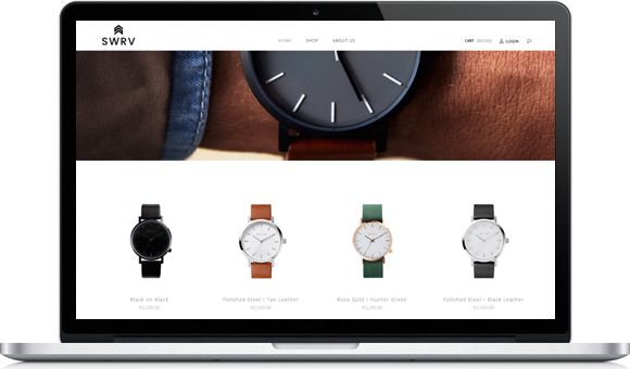 SWRV Watches Online store by Website Design Studio
