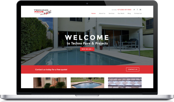 Technopave Website by Website Design Studio