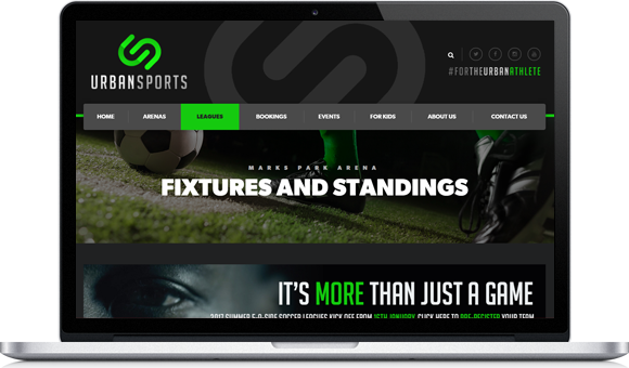 Urban Sports Website Design by Website Design Studio
