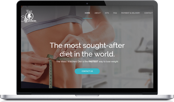 Waist Watchers - Weight Loss Website Design by Website Design Studio